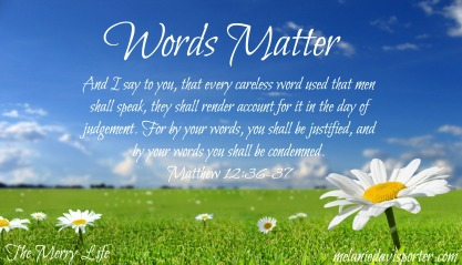 words matter
