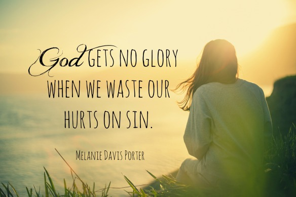 Wastes our sin on Hurt